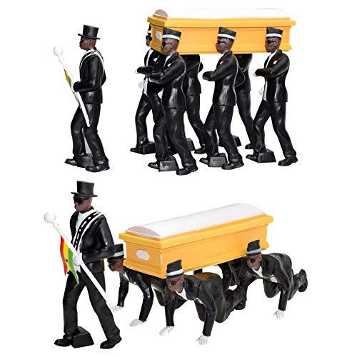 10cm Ghana Pallbearers Tanzteam Blacks Coffin Dance Team Figurenspielzeug, Hot Fashion Blacks Sarg Dance Team Figur PVC, Parodie Spielzeug