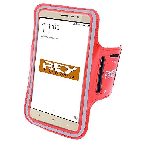 Brazalete Deportivo Reflectante para Smartphones Desde 5,5' hasta 6,3', en Color Rojo