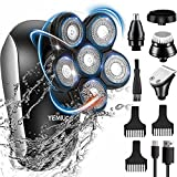 Head Shavers for Bald Men 5 in 1 Cordless Electric Rotary Shavers Grooming Kits, IPX7 Waterproof...