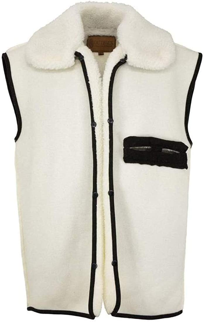 Outback Trading Company Unisex 2008 Wool Button-In Insulated Warm Liner Vest for Oilskin Jackets and Dusters