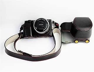 Sony ソニー PEN A6000 A6300 A6400 α6000 α6300 α6400 ソニーアルファ6400 ソニーアルファ6300 ソニーアルファ6000 カメラケース カメラカバー カメラバッグ カメラホルダー、【WDMART】手作りのレザーカメラフルケース、対応レンズモデル:E PZ 16-50 f/3.5-5.6 OSS、付属品:ショルダーストラップ、スタイリッシュ、コンパクト、防水、防振 (ブラック)