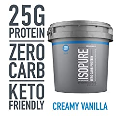 100% WHEY PROTEIN ISOLATE – a high-quality protein source providing 25g per serving to support muscle ZERO CARBS- helps for those watching their calorie intakes A PERFECT FIT – supports your active lifestyle and can be used post-workout, between meal...