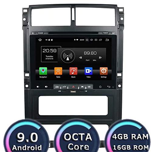 ROADYAKO 9 Pouces Android 8.0 pièces d'auto pour Peugeot 405 2013 2014 2015 2016 Voiture Radio stéréo avec Navigation GPS Lien WiFi Miroir RDS FM AM Bluetooth Support caméra de recul