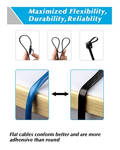 Cat7 Ethernet Cable, 50 Ft Network Cable for Xbox PS4, High Speed Flat Internet Cord with Clips Rj45 Snagless Connector Fast Computer LAN Wire for Gaming, Switch, Modem, Router, Coupler, Black
