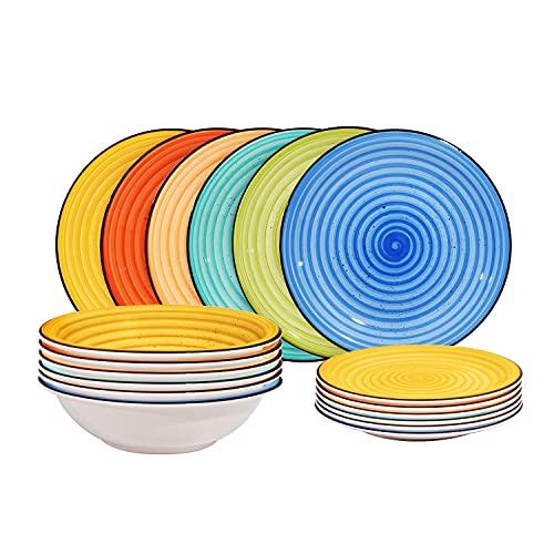 Servizio piatti Iride multicolore, 18 pezzi Multicolore