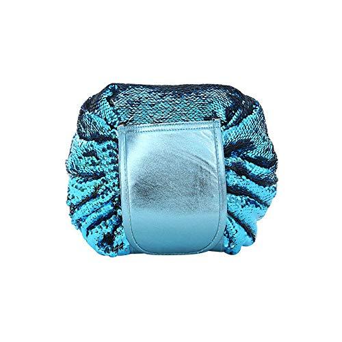 Cosmétique Sac Femmes Voyage Toilette Maquillage Étui De Rangement Cordon Rétractable Organisateur Accessoires Articles50 * 50 cm-Blue_Bag_50 * 50 cm