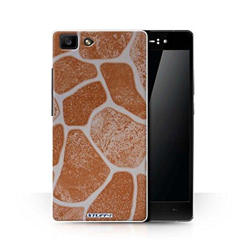 Stuff4 hoes/case voor Oppo R5 / steenvloer/oranje patroon/steen/rok collectie