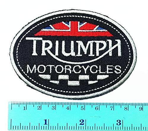 Parche para motocicleta Triumph Logo Triumph Logotipo para Biker Club Parche Coser hierro en la chaqueta Cap Chaleco Insignia Signo Logo Aplique Recuerdo Accesorio