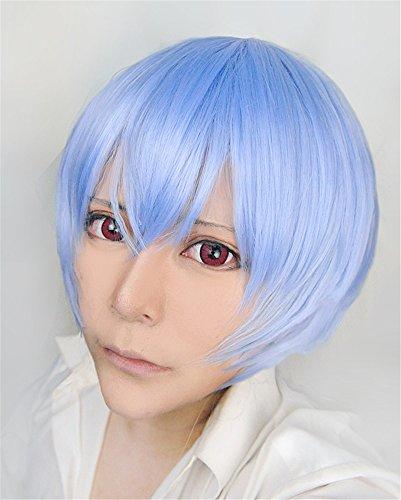 LanTing Cosplay Perücke Neon Genesis Evangelion/EVA Ayanami Rei Blue Frauen Cosplay Party Fashion Anime Human Costume Full wigs Synthetic Haar Heat Resistant Fiber