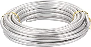 Pandahall 30 Feet Silver Aluminum Wire 6mm Metal Craft Wire for DIY Manual Arts Jewelry Making(Silver)