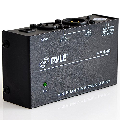 Universal Compact Phantom Power Supply - Selectable +12 / +48 Volt...
