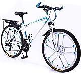 24 Pulgadas Bicicleta Bici Ciudad Plegables Adulto Hombre Mujer, Bicicleta de Montaña Btt MTB Ligero Folding Mountain City Bike Doble Suspension Bicicleta Urbana Portátil, H080ZJ