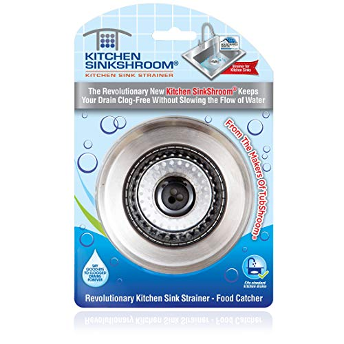 Kitchen SinkShroom Revolutionary Clog-Free Stainless Steel Sink Strainer