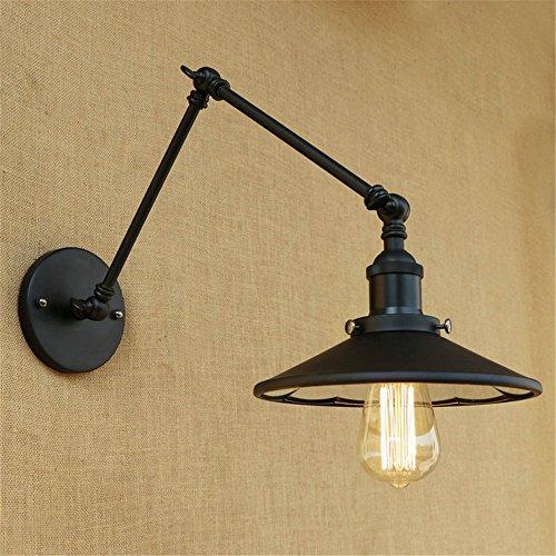 YU-K kamerlamp, eenvoudig, vintage, wandlamp, creatief, living, eetkamer, slaapkamer, dubbele verlichting, allee, lamp, lange arm, telescoop, nachtkastje, restaurant, slaapkamer, decoratieve wandlamp, diameter 220 mm, lengte van de arm 200 mm, 2 stuks