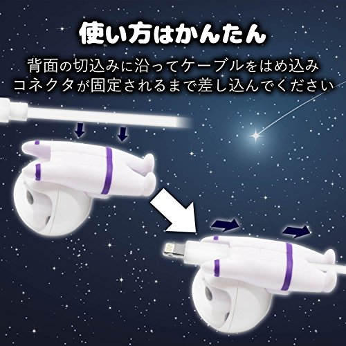 エレコムケーブルフィギュア/SPACEANIMAL/パンダP-APLTDSPPAN