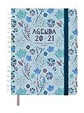 Finocam - Agenda 16 Meses 2020-2021 Cuarto - 155 x 217 Semana Vista Apaisada Vitae, Azul, Español