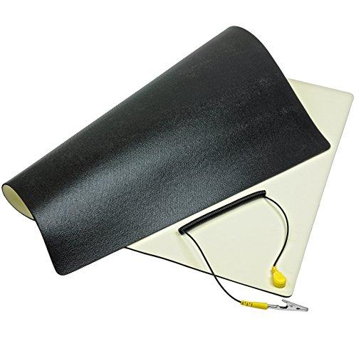 Minadax® ESD Antistatik-Matte 30cm x 55cm - Professionelle Antistatische Arbeitsmatte - PVC-Matte mit Erdungskabel - Qualität - ESD-Schutz