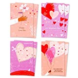 Hallmark Mahogany Valentines Day Cards Assortment, Love Day Hearts (8 Valentine's Day Cards with Envelopes)