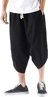 Hibote Hombres Onesies Lino Algod/ón Mono Moda Casual Soporte para el Trabajo Cuello Suelto Gimnasio Pantalones Cortos Suelta Deporte Ch/ándal Traje
