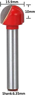 """1/4""""Shank 5/8""""Dia Carbide Tipped Woodworking Tool Round Nose Edge Treatment Grooving Router Bits"""