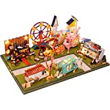 Sponsi Kit De Casa De Muñecas De Madera DIY Dollhouse,Regalo De Cumpleaños De Navidad Modelo De Tienda De Coches En Miniatura De Bricolaje De Madera