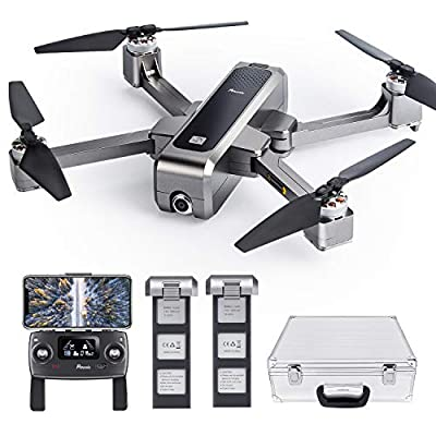 Potensic D88 Foldable Drone, 5G WiFi FPV Drone with 2K Camera, RC Quadcopter for Adults and Experts, GPS Return Home, Ultrasonic Altitude Setting, Optical Flow Positioning, 2 Battery 40min-Upgrade