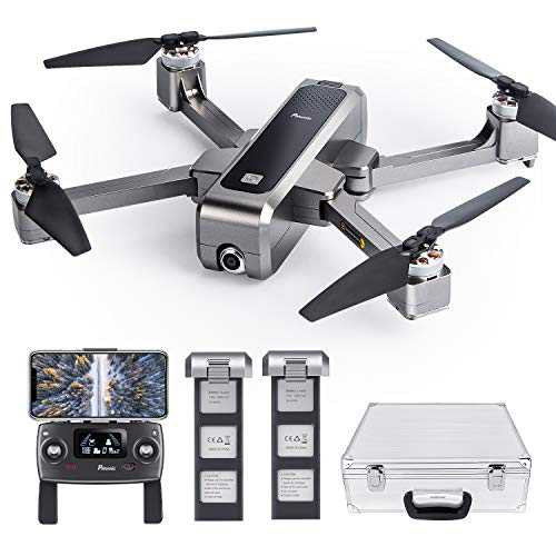 Potensic D88 Foldable Drone with 2K Camera, GPS Return Home, Brushless Motors and Case