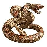Design Toscano Western Diamond Back Rattlesnake Garden Animal Statue, 13 Inch, Polyresin, Full Color