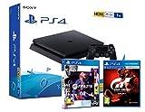 PS4 Slim 1Tb Negra Playstation 4 Consola + FIFA 21 + GT Sport - Gran Turismo Sport