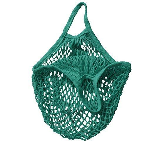 Sac en maille filetée Yuhemii Cordon en coton bio Sac Cabas Filet tissé réutilisable Vert, 38,1cm