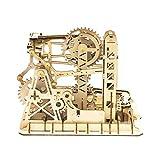 Robotime 3D Puzzle Holz Kugelbahn Erwachsene , Murmelbahn Modellbau Holzbausatz Board Games