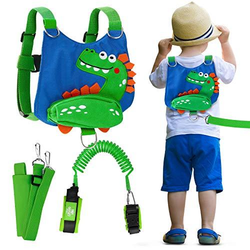 Lehoo Castle Kinder Sicherheitsleine, Kinder Leine Handgelenk, Anti-verloren Gürtel Handgelenk Link (Dinosaurier)