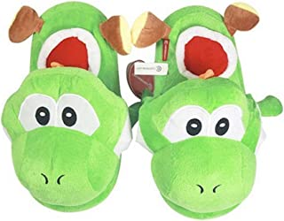 EASTVAPS Chaussures Super Mario Yoshi Home Slippers - Chaussures en Coton Chaud