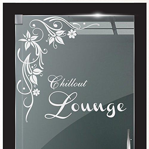 DD Dotzler Design 2111-1 Milchglasfolie Glastür Fenster Motiv Fensterfolie Chillout Lounge Blumenranke Glaskunst