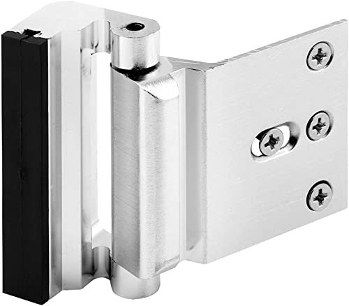 Defender Security Brushed Chrome U 11325 Door Reinforcement Lock – Add Extra, High Security to your Home and Prevent ...