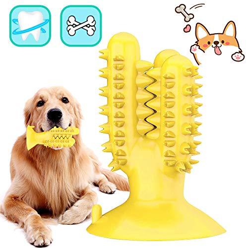Cepillo De Dientes para Perros,Cepillos de Dientes Caninos,Limpiador de Dientes de Perro,Juguetes para Masticar Dental para Perros Limpieza-Perro Cuidado bucal Dental(Amarillo)