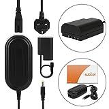 subtel® Netzteil kompatibel mit Panasonic GH5 Lumix DC-GH5s DMC-GH4 GH4 GH4r GH4h GH3 Lumix DMC-GH3h GH3a G9 Lumix DC-G9 - ca. 3m, DMW-AC8 + DMW-DCC12 Stromadapter Netzadapter Ladegerät