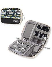 حقيبة سفر لتنظيم الكابلات والقطع الالكترونية والاكسسوارات من هاينز ايغل تناسب انواع مختلفة من كابلات يو اس بي والهواتف واجهزة الشحن واي نوع من الكابلات، لون اسود - HE0772-12