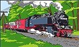 Dampflok Eisenbahn Fahne Flagge Gr. 1,50x0,90m Neuware - FRIP -Versand®