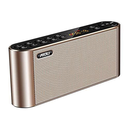 FANG Bluetooth-luidspreker, dubbele luidspreker, wekker, draadloze telefoon, audio, buitenvolume, radio, draagbare kaart, U Disk small Home subwoofer