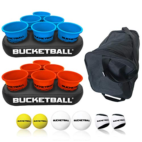 Bucket Ball - Beach Edition Party Pack - Ultimate Beach, Pool, Yard, Camping, Tailgate, BBQ, Lawn, Water, Indoor, Outdoor Game – Best Gift Toy for Adults, Girls, Boys, Teens, Family