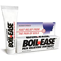 For the temporary relief of pain and discomfort caused by boils Boil ease Clinically proven