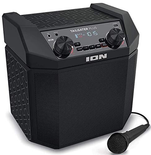 ION Audio Tailgater Plus - Cassa Bluetooth Portatile da 50 W con Microfono, Porta di...