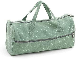 Soft Knitting Pin Case Matt PVC - Charcoal Polka Dot 10x42x5/½ cm Hobby Gift MR4699\263