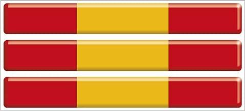 Artimagen Pegatina Bandera Rect/ángulo 9 uds Granada Resina 16x11 mm//ud.