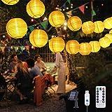 Flintronic Guirnaldas Luces Exterior Solar LED, 9.5m 50LEDs Farolillos Solares Exterior(Viene con 3 Linternas Adicionales), Impermeable Decoración Farolillos con Temporizador, para Decoración Navidad