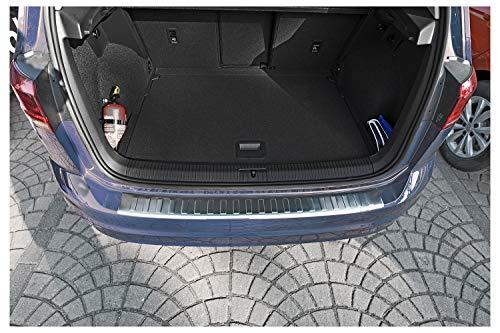 teileplus24 L645 Ladekantenschutz V2A Edelstahl für VW Golf Sportsvan 2017- Abkantung, Farbe:Silber gebürstet