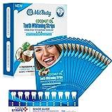 MitButy Tiras Blanqueadoras de Dientes con Aceite de Coco Natural, 14 Tratamientos – Tiras de Blanqueamiento Dental...