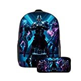 Fortnite Backpack 17inch, Adjustable 2 Pack Laptop - School Bag with Pencil Case for Boys,Girls