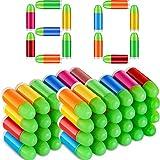 80 Pieces Toy Gun Bullets Mixed Color Rubber Bullets...